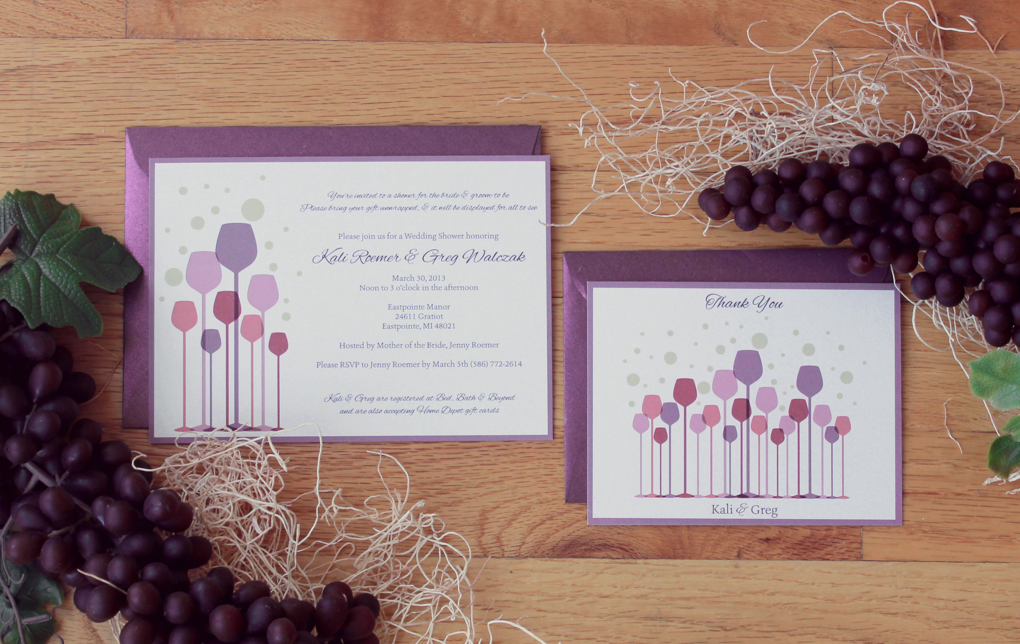 Wine Themed Wedding Shower Invitations Graphic Giraffe
