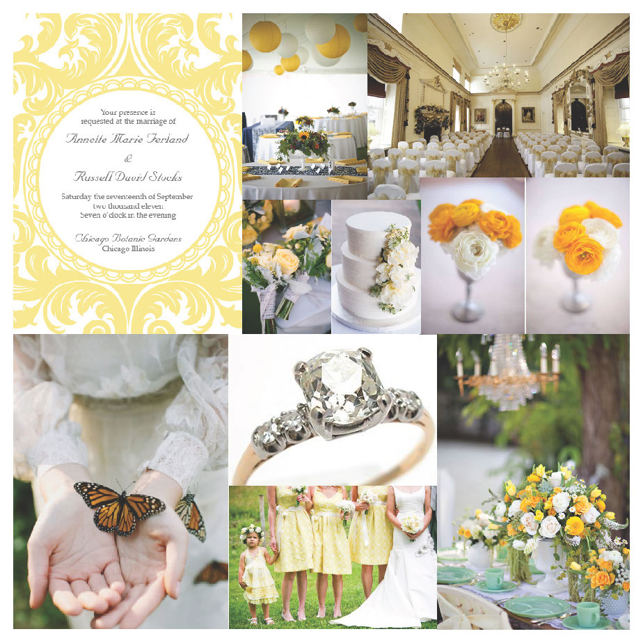 Wedding Board Wednesday Yellow Morning Graphic Giraffe